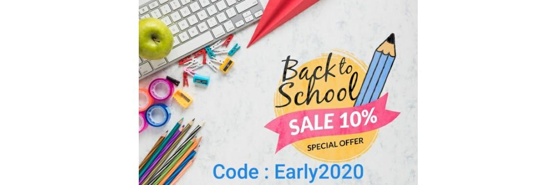 Earlybird 10% off School Uniform